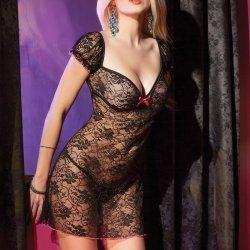 Zwart jurkje met bloemmotief