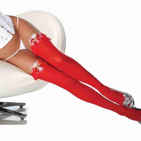 Rode nylons met belletjes