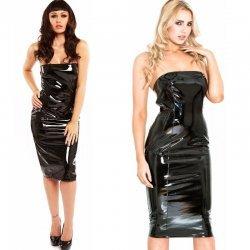 Zwarte spanking jurk
