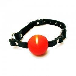 Gag met stevige rode bal