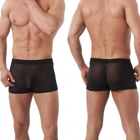 Semi transparante zwarte short