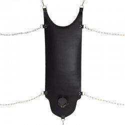 Leren sling met halsband