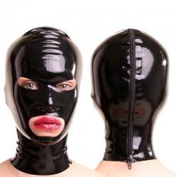 Latex masker met ovale ogen