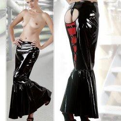 Lange lak rok met slipje