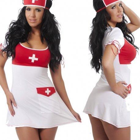Verpleegsters outfit met kapje
