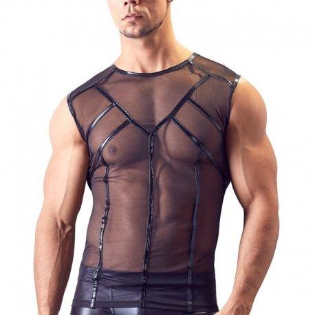 Transparant mouwloos shirt