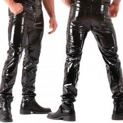 Heren lak broek in jeans model