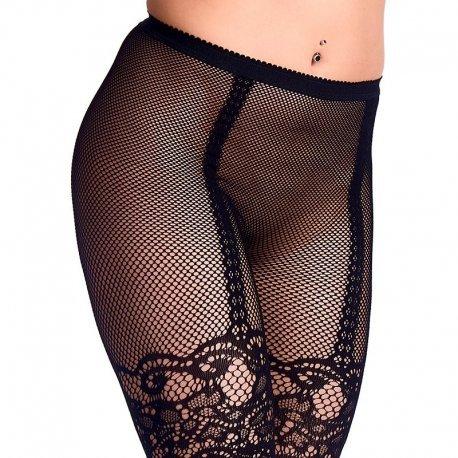 Diep zwarte panty