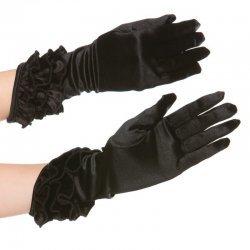 Korte zwarte handschoentjes