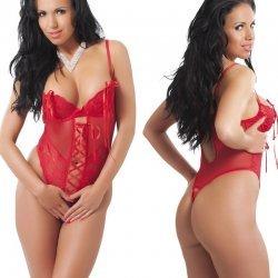 Rode body met snoerlint