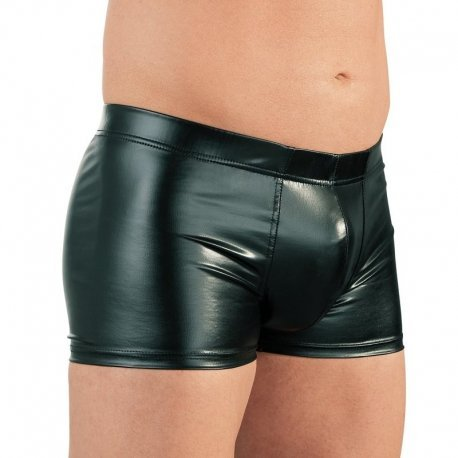 Wetlook boxer met cockring