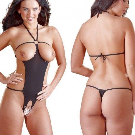 Zwarte body met strass