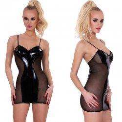 Lak jurkje met transparante achterkant